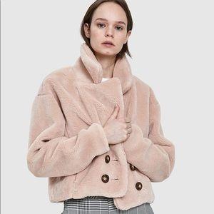 Farrow Hazel Faux Fur Coat in Mauve